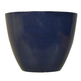 Garden Treasures H X W X D Blue Brushed Indoor/Outdoor Planter