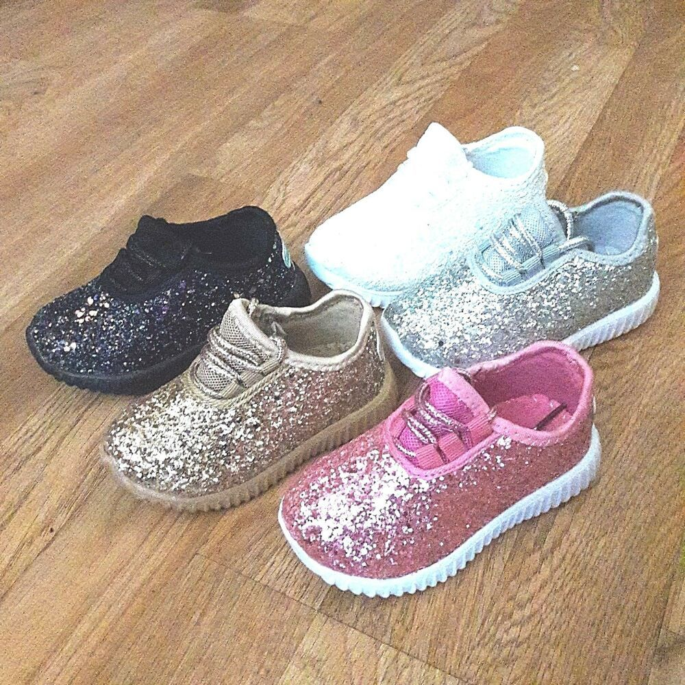 Toddler Girls Sneakers Glitter Tennis