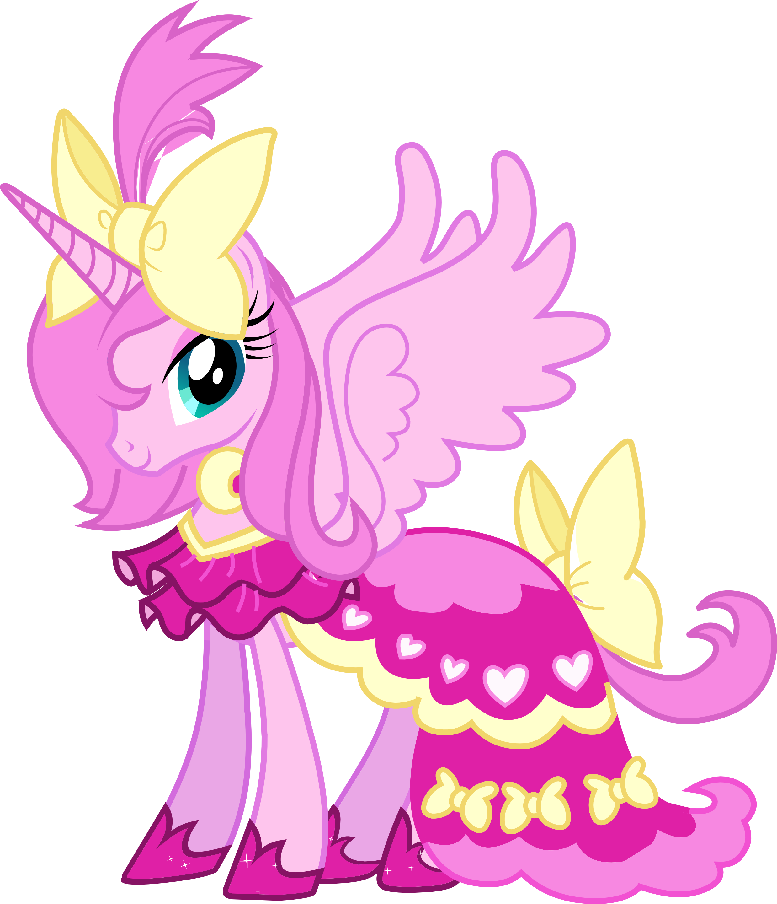 My little pony friendship is magic princess princess luna pink makeover this is so wrong - Princesse poney ...