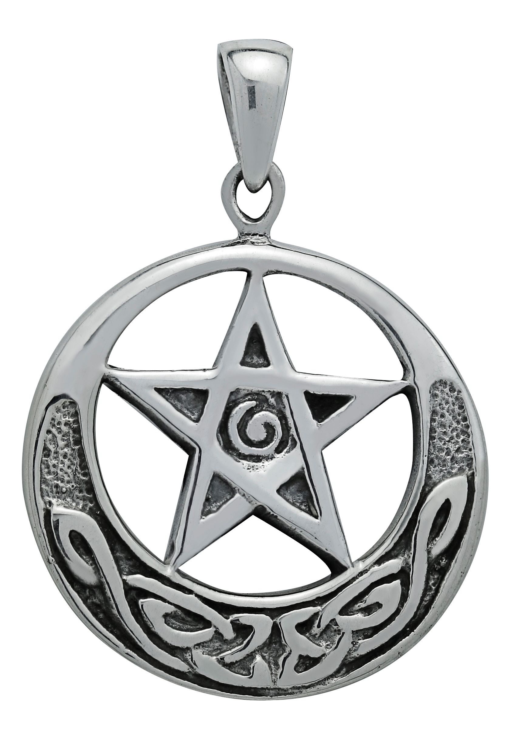 triple vcmm moons of the hecate sam goddess index pendant pewter