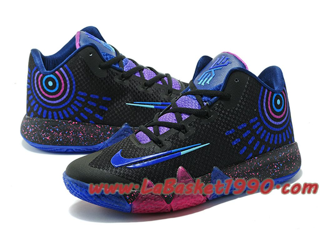 best sneakers 06528 6b56f Nike Kyrie 4 - Chaussures de Basketball Pas Cher Pour Homme Noir Bleu