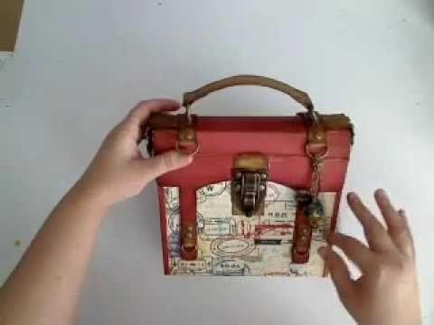 Mini album a forma di valigia. Travel Mini Album
