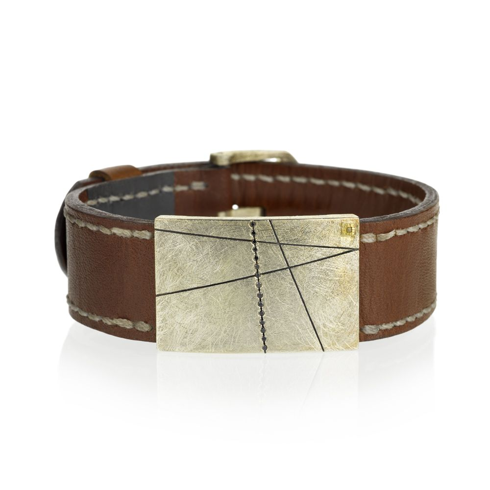 Todd Reed Jewelry Mens Designer Leather Bracelet Cuff Eco