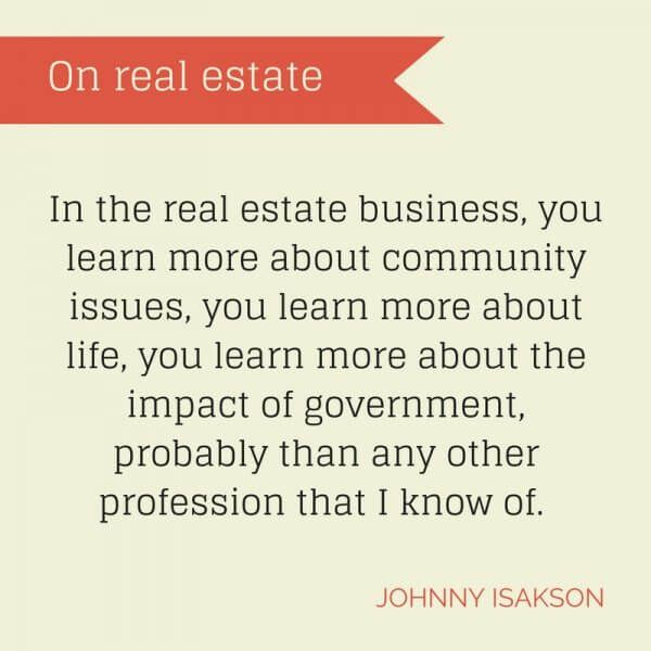 JohnnyIsaksonQuote  Real Estate Marketing    Real