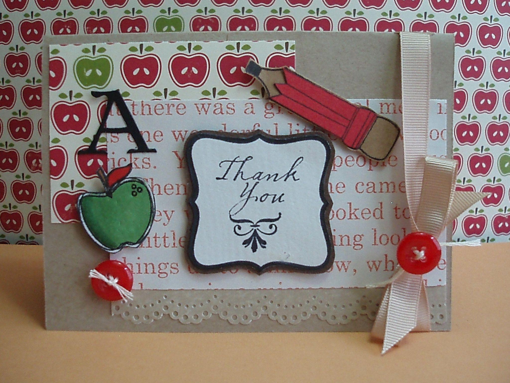 Another Teachers Day Card Cards Pinterest Appreciation