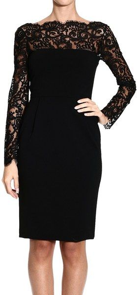 Gucci Black Dress Long Sleeve Lace Jersey   Clothes!   Pinterest ...
