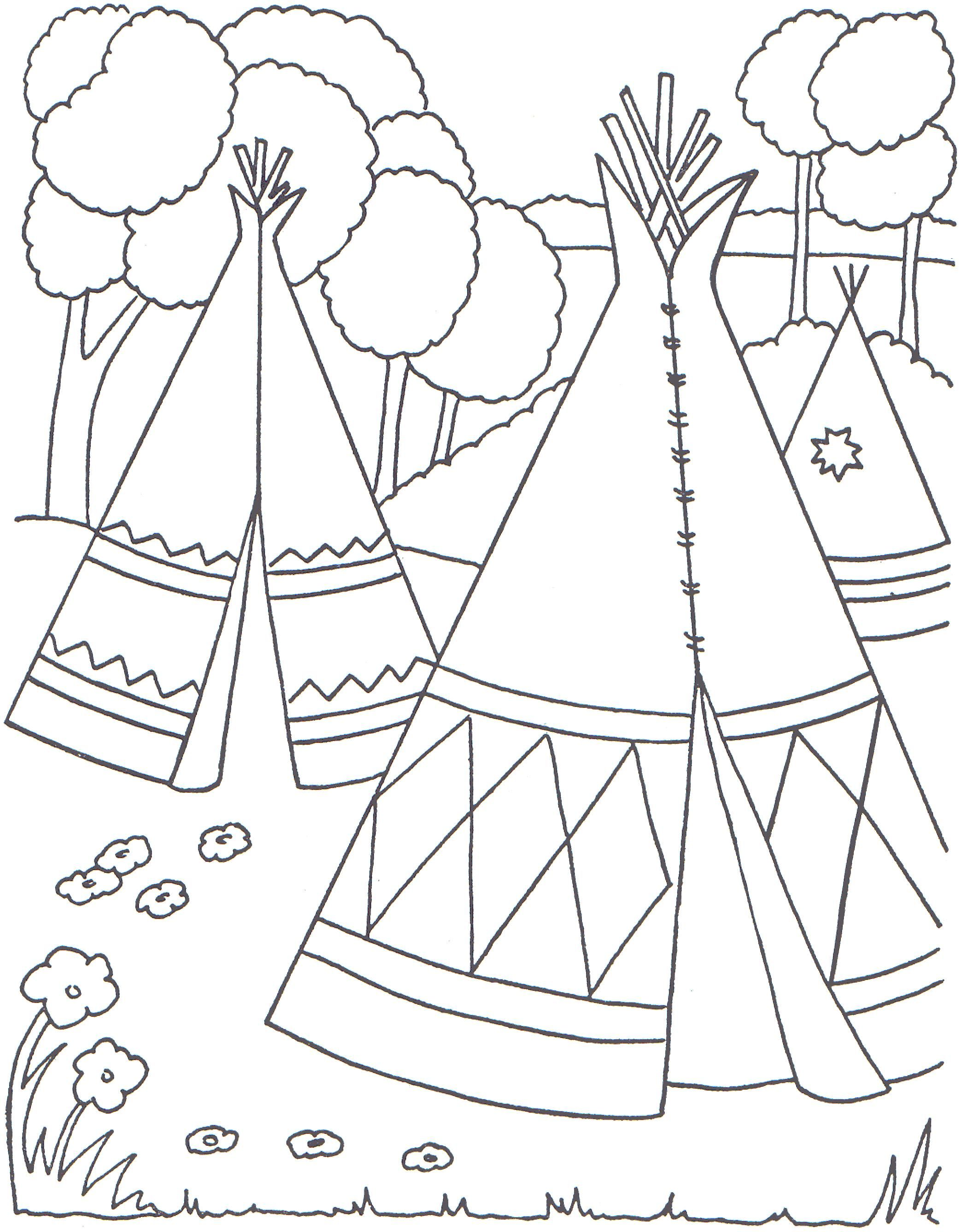 Cowboys and Indians Coloring Pages | Indian Coloring Pages ...