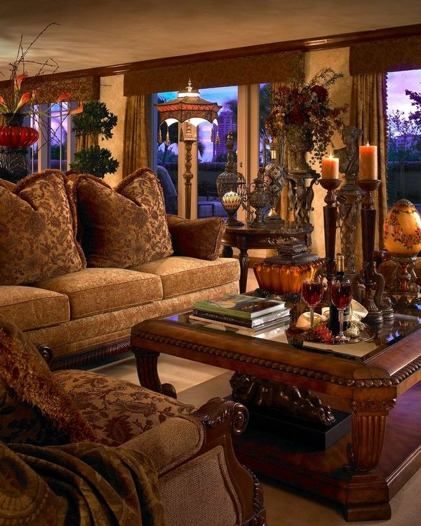 50 Luxury Living Room Ideas | Tuscan living rooms ...