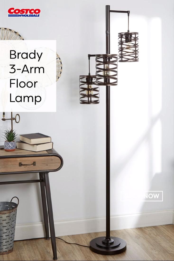 Brady 3 Arm Floor Lamp Video In 2020 Arm Floor Lamp Floor Lamp Lamps Living Room