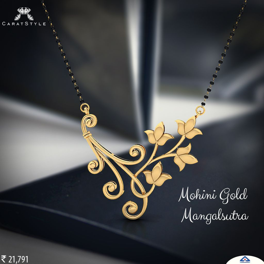 Begin your life long romance with mohini gold mangalsutra