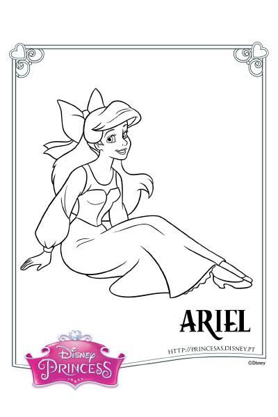 Colorir a Ariel 4 | Disney coloring pages, Doodle coloring ...