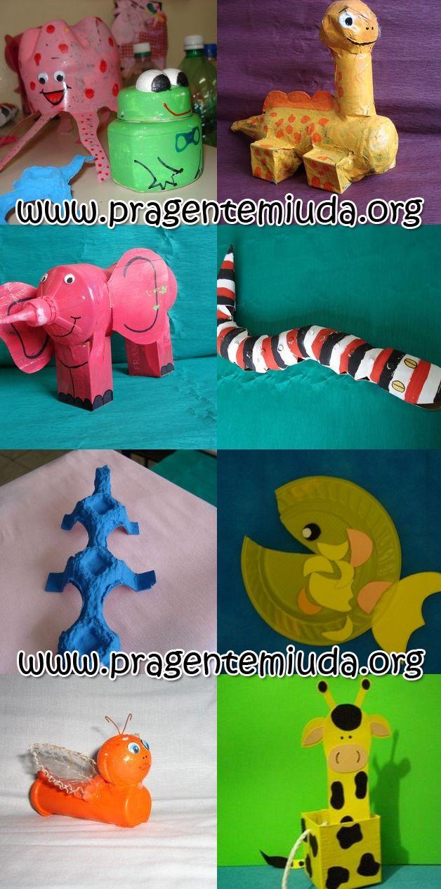 Conhecido Animais e brinquedos feitos com reciclagem | Pra Gente Miúda  KK45
