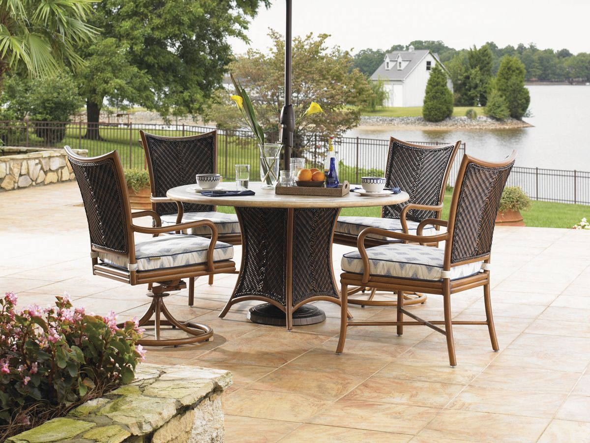 Island Estate Lanai Wicker Rattan Aluminum Dining Collection By Tommy Tommy Bahama Outdoor Furniture Outdoor Wicker Patio Furniture Outdoor Furniture Sets