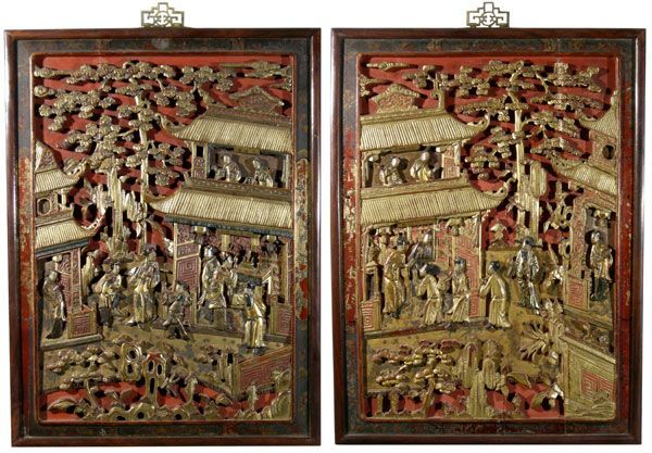Chinese carved wooden panels antiques classifieds