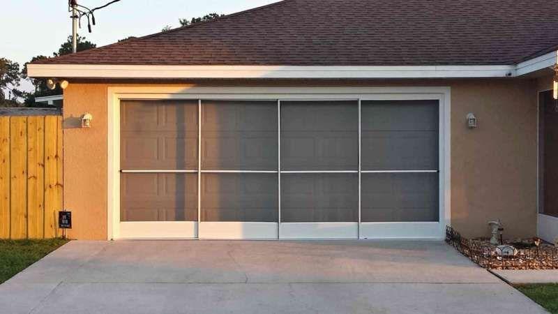 Garage Door Screen Custom