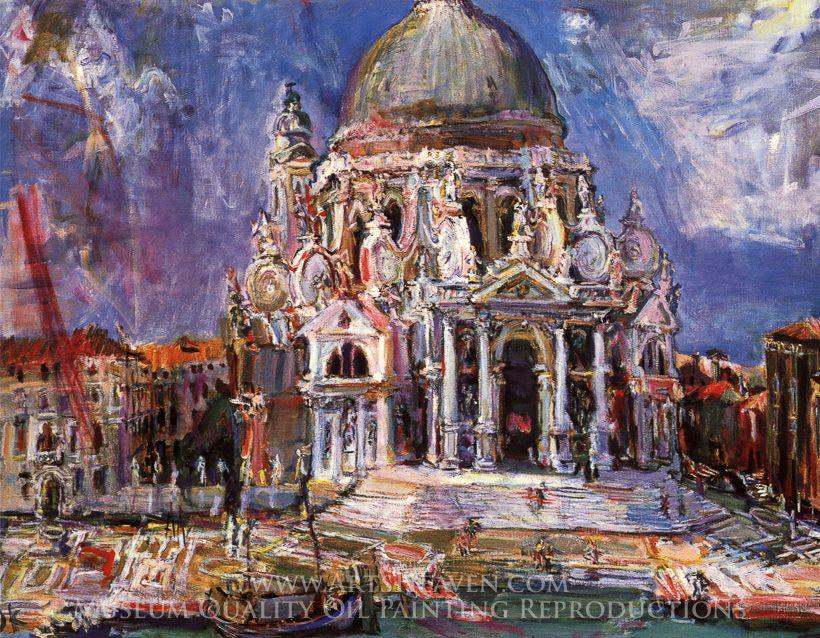 Oskar Kokoschka Venice, Santa Maria della Salute III ...