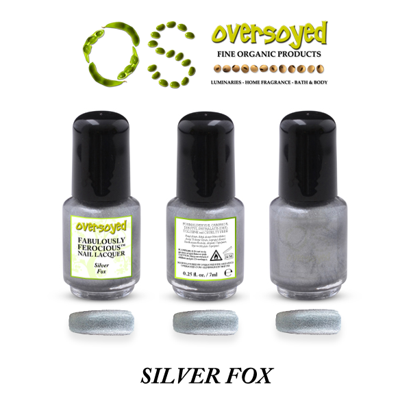 Silver Fox Fabulously Ferocious™ Nail Lacquer – OverSoyed Fine Organic Products