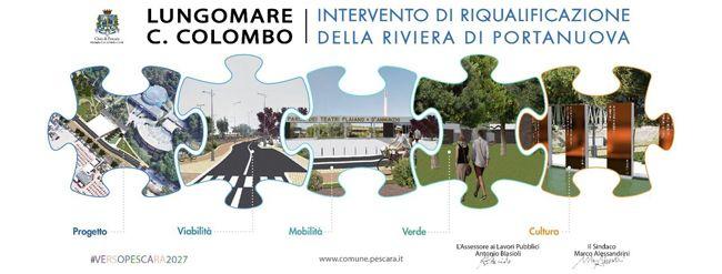 Pescara riqualificazione Lungomare Colombo: presentato il progetto