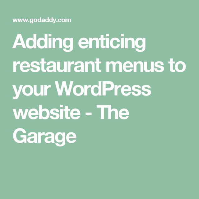 Adding Enticing Restaurant Menus To Your WordPress Website