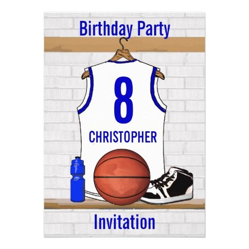f865f5f4f Personalized white Blue Basketball Jersey Custom Announcement