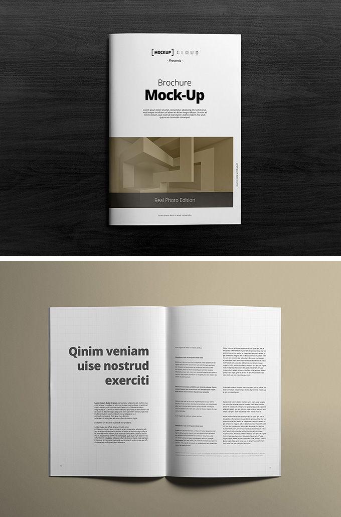 a4 brochure mockup download free psd template mock up pinterest