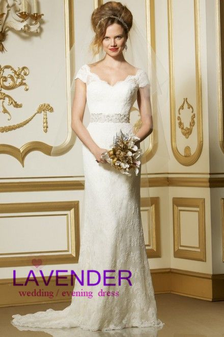 Modest Cap Sleeve Lace Wedding Dress Romantic Long Cheap Bridal Gown Made In China Online Sale