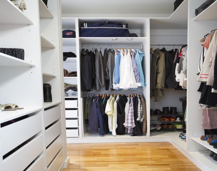Armario vestidor m s de 55 ideas de dise o y formas de for Ideas para organizar armarios