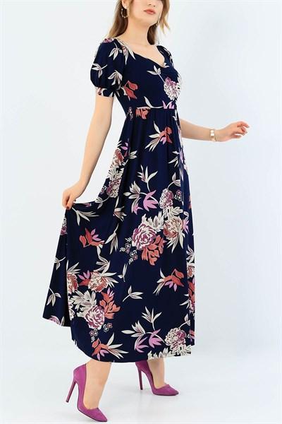 39 95 Tl Lacivert Onu Buzgulu Viskon Elbise 35753 Modamizbir 2020 Elbise Maksi Elbiseler Elbise Modelleri