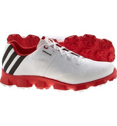 competitive price 9be54 09c2f adidas Mens Crossflex Golf Shoes (WhiteBlackRed)