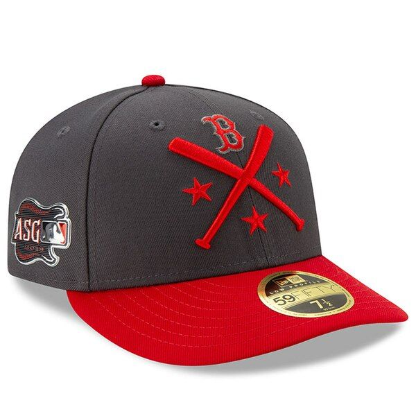 eed7475edf9dd4 Men's Boston Red Sox New Era Graphite/Red 2019 MLB All-Star Workout ...