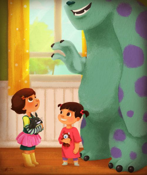 Boo And Sully And I Believe The Girl From Toy Story 3 -5282