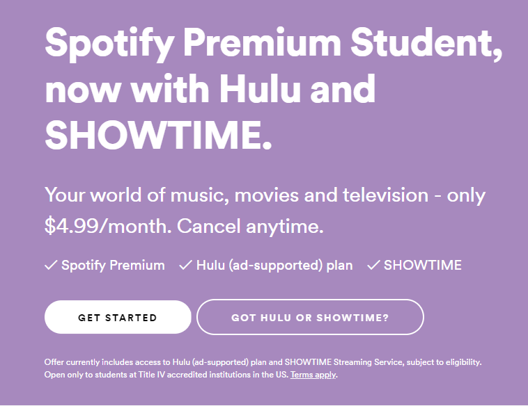 Nate Pruett Student Spotify Premium How To Plan