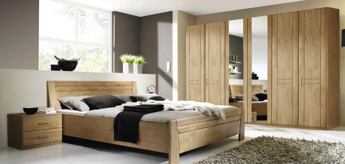 Schlafzimmer-Set beige, mit 6-türigen Kleiderschrank, yourhome Jetzt - schlafzimmer komplett
