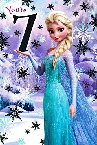 Disney Frozen Elsa 7th Birthday Card 418969 Toys And Games Must