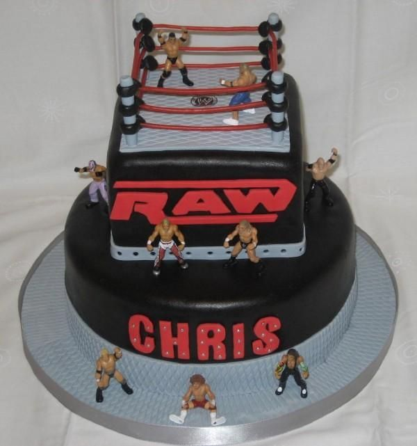 Wwe Raw Birthday Cake I Made This Cake For A Little