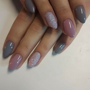 Grey Pink And Glitter