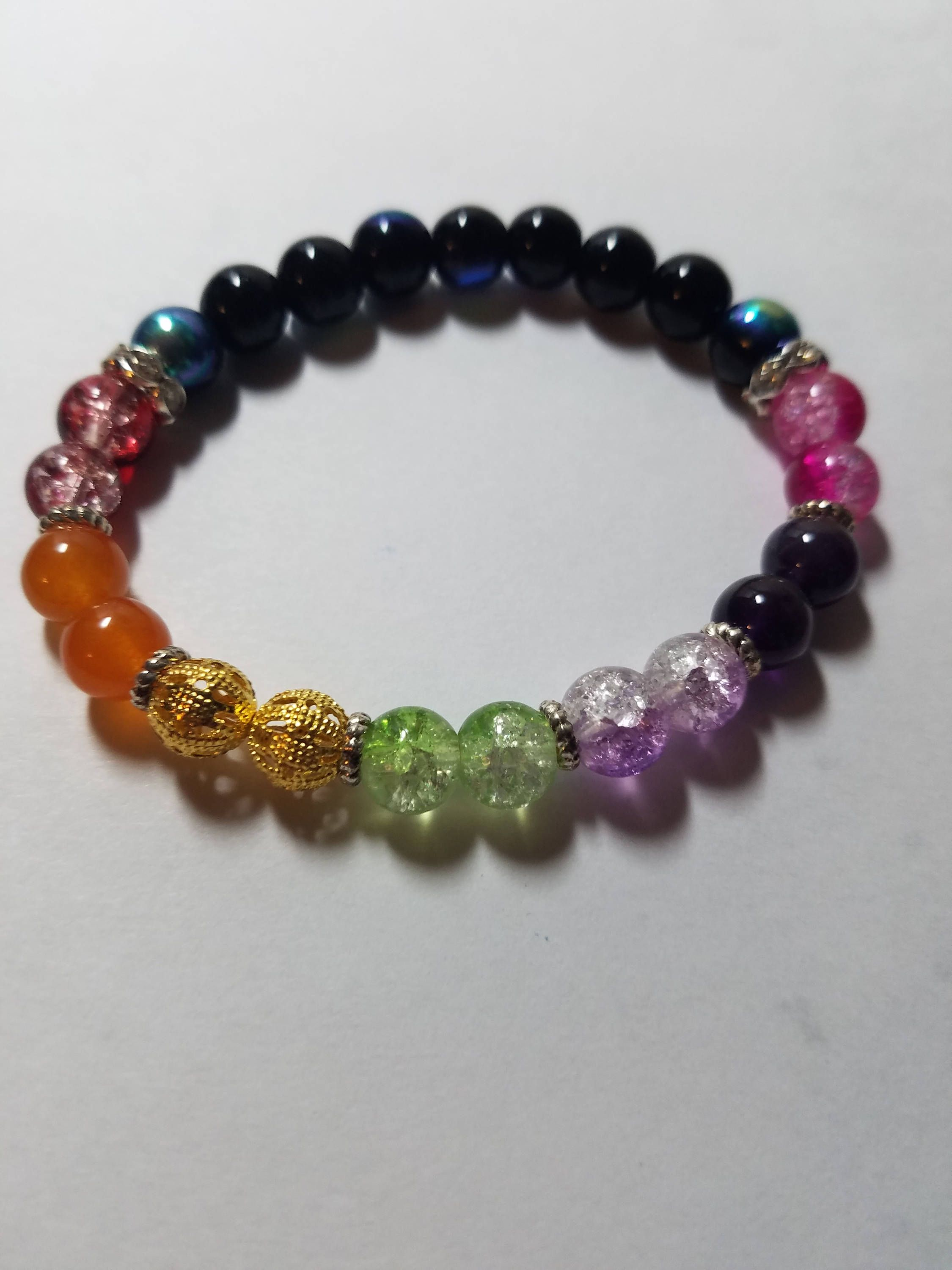 In My Etsy 7 Chakra Double Ful Beaded Bracelet Reiki