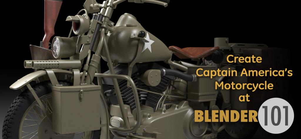 Create Captain America's Motorcycle!