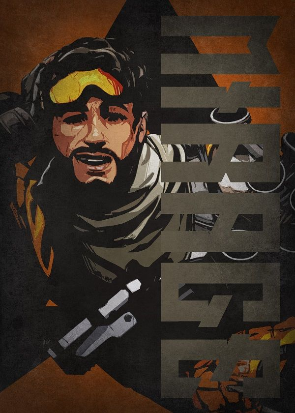 """Apex Legends Colourful Characters Mirage #Displate explore Pinterest""""> #Displate artwork by artist """"Beegeedoubleyou"""". Part… 