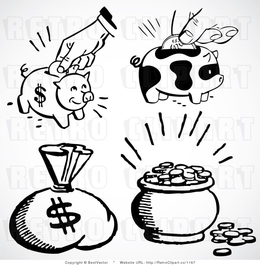 Money Black And White Clipart Free Wikiclipart