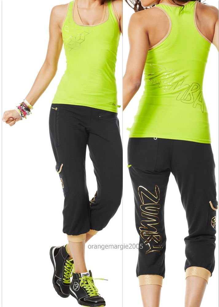 Zumba Fitness Womens Galatic Gold Capri