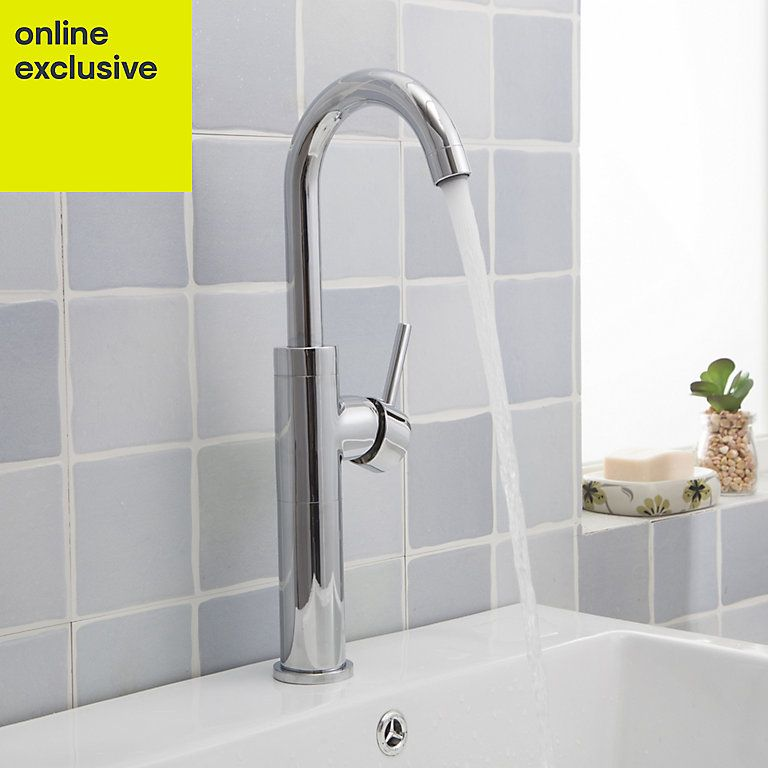 Cooke & Lewis Coggia Tall Basin Mixer Tap | Basin mixer ...