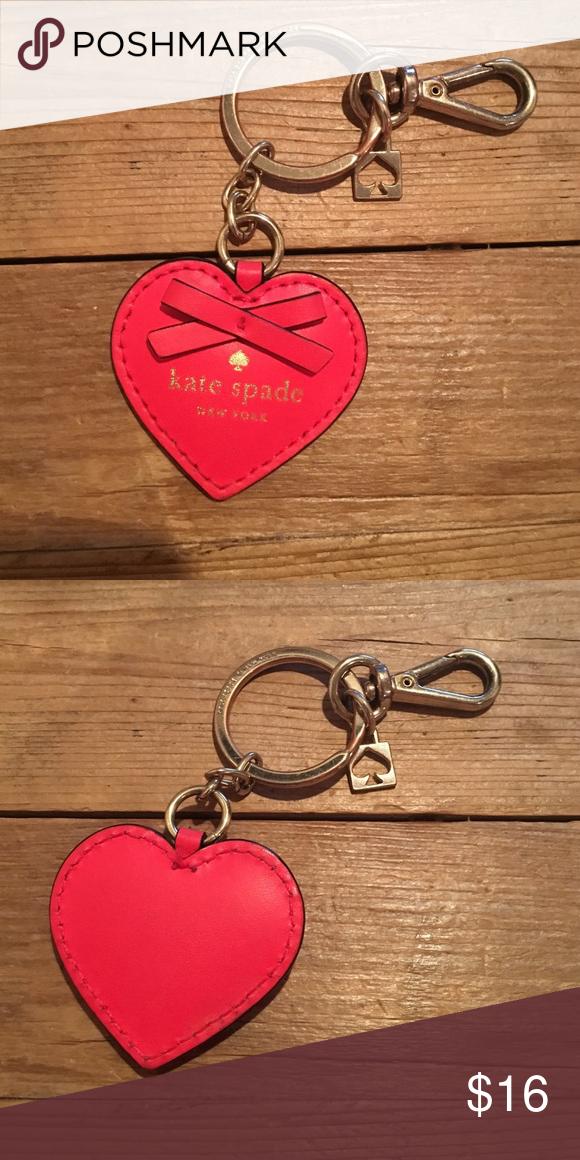 Kate spade heart keychain Cute Kate spade keychain- shoes