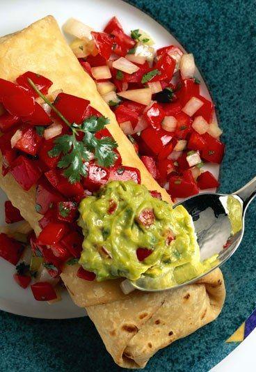Vegetarische Burritos mit Tofu - 10 schnelle vegetarische Rezepte