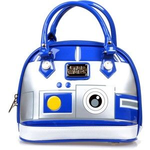 Blue & Silver Patent Star Wars r2-d2 Dome Bag