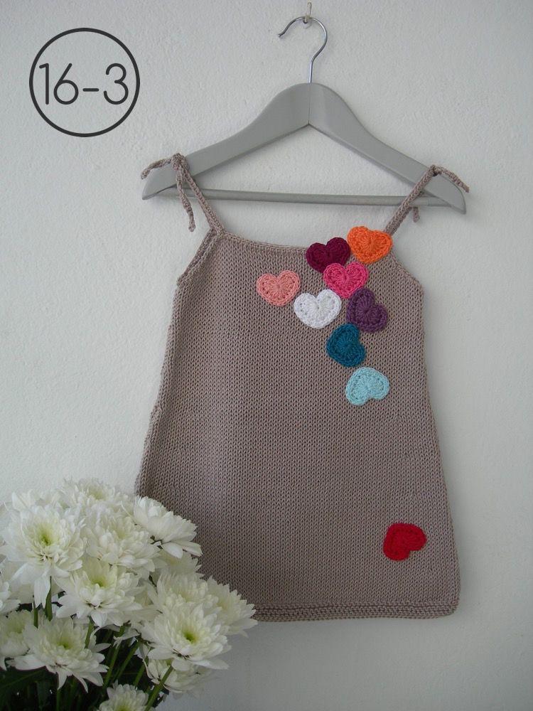 Vestido en punto jersey y color vis n aplicaciones de - Aplicaciones en crochet ...