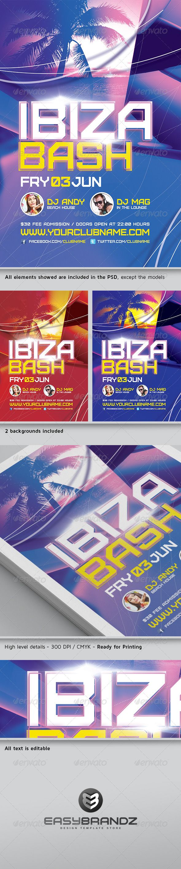 Ibiza Bash Flyer Template
