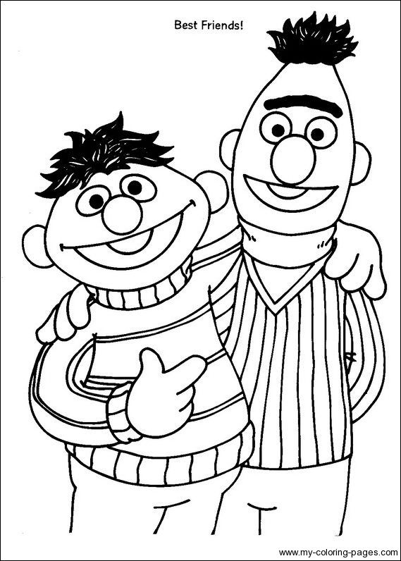 Bert Ernie Sesame Street Coloring Pages Elmo Coloring Pages