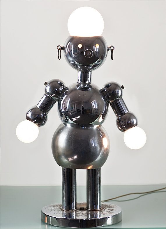 Rare Mid Century 1970 39 S Torino Italian Chrome Robot Lamp Home Decor Lighting Eames Robot Lamp Favorite Lighting Lamp