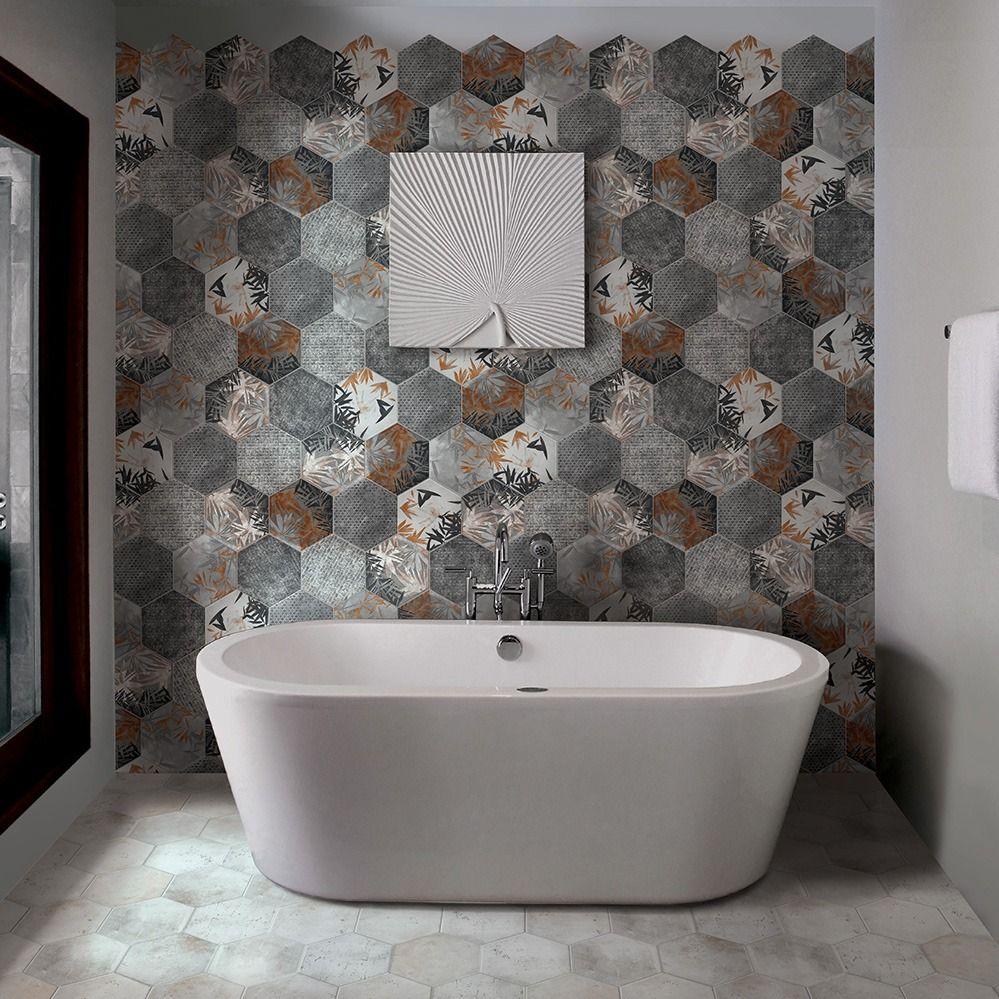Crédence Effet Carreau De Ciment carrelage hexagonal imitation carreaux de ciment 24x27,7
